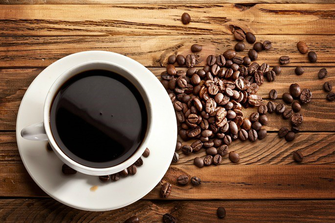 Black coffee is a rich source of antioxidants.